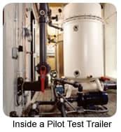 pilot testing inside a pilot test trailer